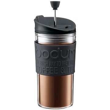 ボダムジャパン株式会社 トラベルプレス フレンチプレスコーヒーメーカー リッド付 プラスチック ブラック K11102-01
