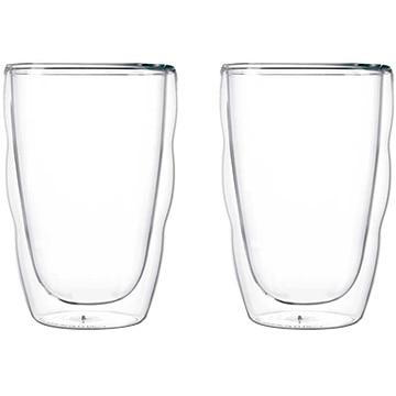 ボダムジャパン株式会社 ピラトゥス ダブルウォールグラス 0.35L (2個セット) クリア 10485-10J