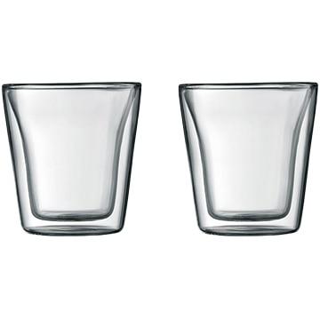 ボダムジャパン株式会社 ボダムキャンティーン ダブルウォールグラス 0.1L (2個セット) クリア 10108-10J