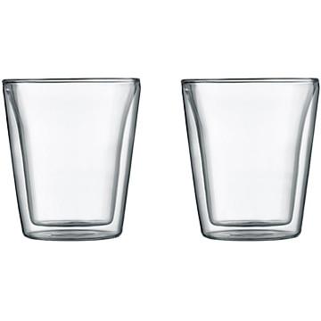 ボダムジャパン株式会社 ボダムキャンティーン ダブルウォールグラス 0.2L (2個セット) クリア 10109-10J