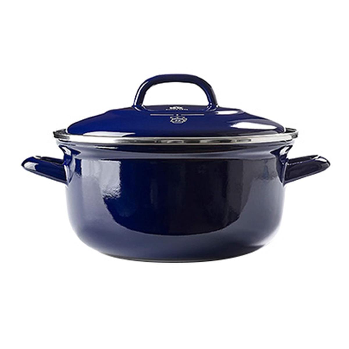 グリーンパン ザ・ダッチ ダッチオーブンホーロー鍋 20cm(2.5L)ロイヤルブルー CC002464-001