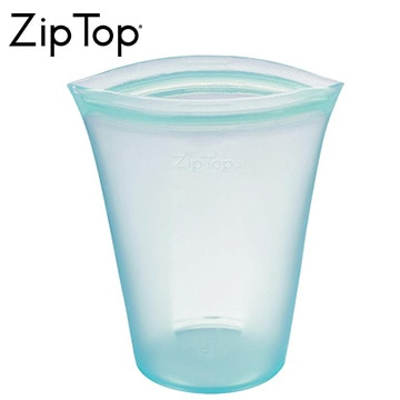 ジップトップ シリコン製保存容器 ZipTop カップ L ティール