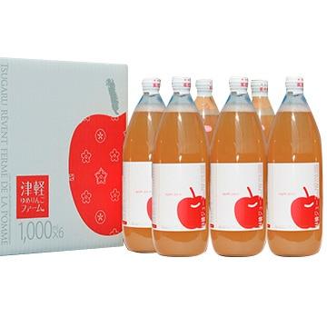 有限会社ゆめりんご 無添加りんごジュース1L 品種おまかせ6本セット