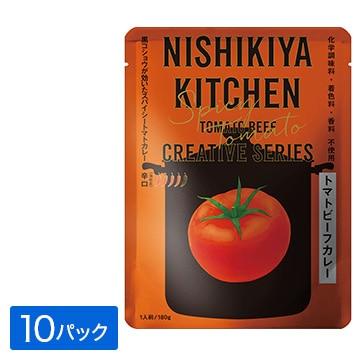 株式会社にしき食品 NISHIKIYA KITCHEN トマトビーフカレー180gx10パック