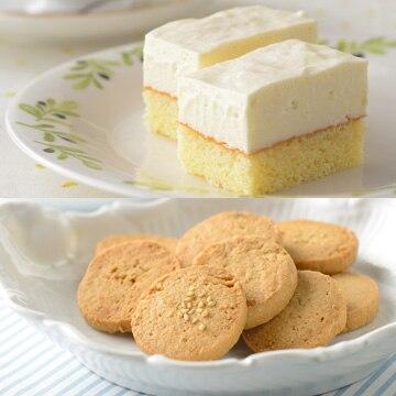 旨味とコク!「おとうふのレアチーズケーキ」とヘルシー!「おからクッキー」のセット