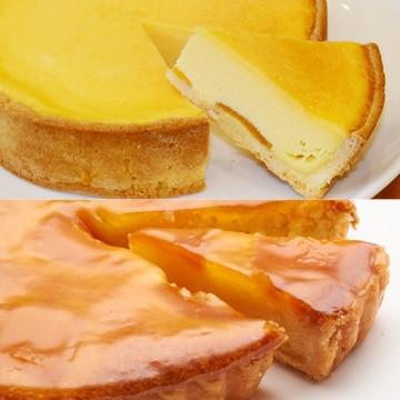 びわタルトとびわチーズケーキのセット