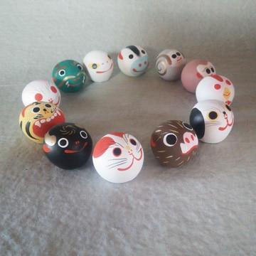 つつみのおひなっこや 堤人形 十二支丸土鈴(小)
