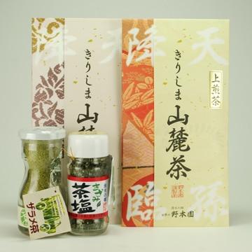 <ひかりTV>【送料無料 + ポイント10倍】霧島山麓茶セット(きざみ茶塩・ザラメ茶・上煎茶・煎茶)画像