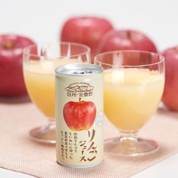 <ひかりTV>【送料無料 + ポイント10倍】信州・安曇野 りんごジュース(ストレート)30本入り(缶)画像