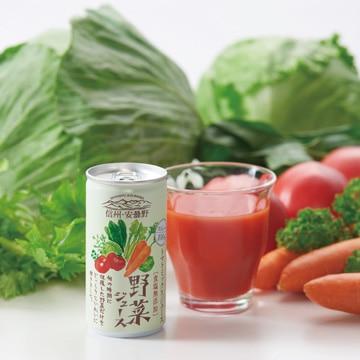 <ひかりTV>【送料無料 + ポイント10倍】信州・安曇野 野菜ジュース(ストレート) 30本入り(缶)画像