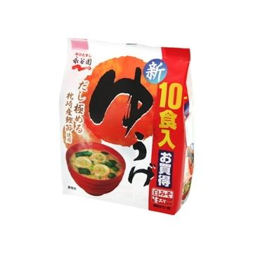 【送料無料】永谷園 生タイプみそ汁 ゆうげ 徳用 10食 x5