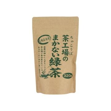 大井川茶園 茶工場のまかない緑茶 袋 320g x12