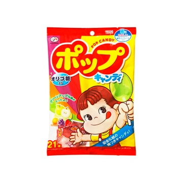 【送料無料】不二家 ポップキャンディ 袋 21本 x6