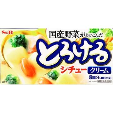 【送料無料】エスビー食品 S&B とろけるシチュー クリーム 160g x10