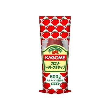 【送料無料】カゴメ トマトケチャップ チューブ入り 500g x10