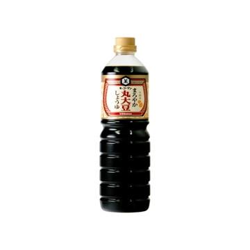 【送料無料】キッコーマン食品 キッコーマン まろやか丸大豆しょうゆ 1L x 6