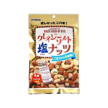 【送料無料】稲葉ピーナツ クレイジーソルトナッツ 72g x 10