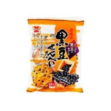 【送料無料】岩塚製菓 黒豆せんべい 10枚 x12