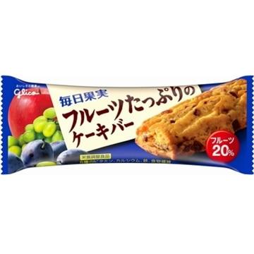 江崎グリコ グリコ 毎日果実フルーツたっぷりのケーキ 1本 x 9