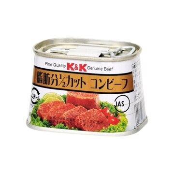 K&K 脂肪1/2カット コンビーフ バラ 100g x6