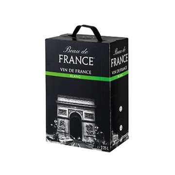 K&K ボー ドフランス VDF バッグインボックス白 2.25L x1