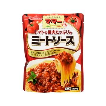 【送料無料】日清フーズ ママー トマトの果肉たっぷりのミートソース 260g x 6