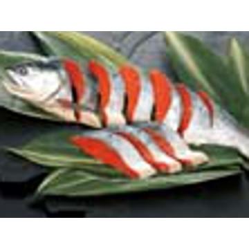 【冷凍】A55 塩紅鮭半身切身 1kg 13000424
