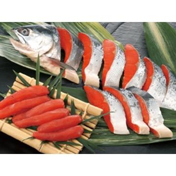 【冷凍】B33 塩紅鮭切身・塩たらこ詰合せ 北海道/根室 13000622