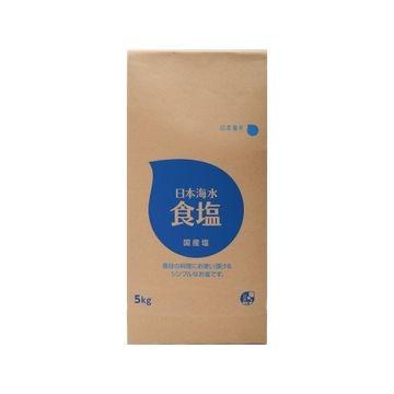 【送料無料】【4個入り】日本海水 食塩 5Kg