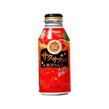 【24個入り】ポッカサッポロ サクサク角切りりんご ボトル缶 400g