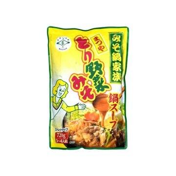 【8個入り】マルサン まつや とり野菜みそ鍋スープ 720g