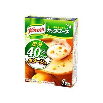 クノール カップスープ ポタージュ塩分40%C 3袋 x 10個