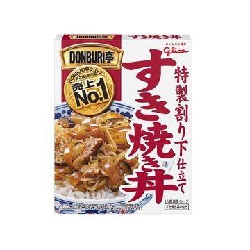 【10個入り】グリコ DONBURI亭 すき焼き丼 170g