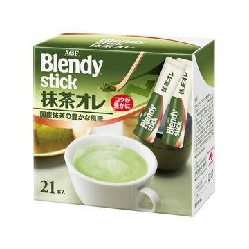 【3個入り】AGF ブレンディスティック 抹茶オレ 21本