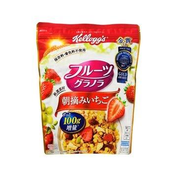 【6個入り】ケロッグ フルーツグラノラ 朝摘みいちご 600g
