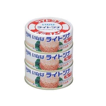 【15個入り】いなば ライトツナフレーク 3缶 70gX3缶
