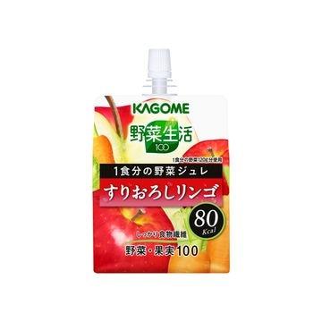 【30個入り】カゴメ 野菜生活ジュレ すりおろしリンゴ 180g