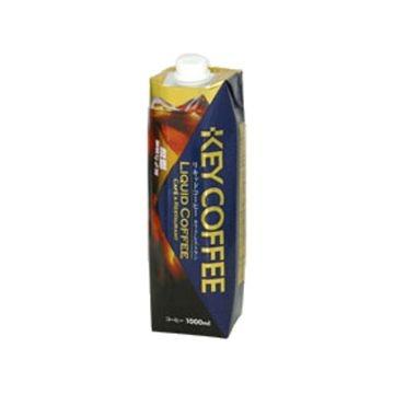KEY コーヒー リキッド テトラプリズマ微糖 紙 1L x 6個