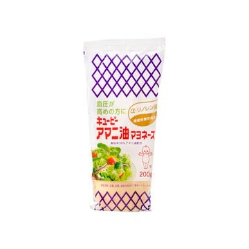【送料無料】キューピー アマニ油マヨネーズ 200g x 15個
