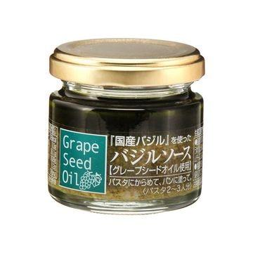 【送料無料】【6個入り】K&K 国産バジルソース(グレープシードオイル使用) 60g