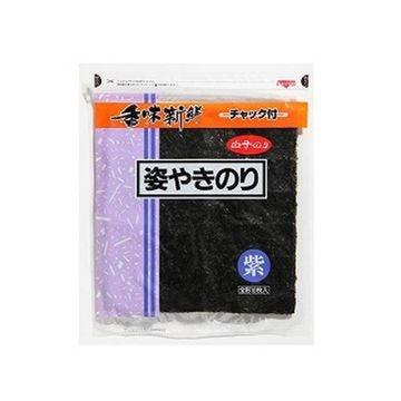 白子のり 姿焼き海苔 紫 10枚 x 10個