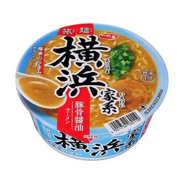 サッポロ一番 旅麺横浜家系豚骨しょうゆ カップ 75g x 12個