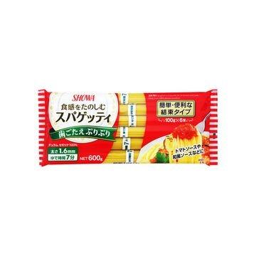 【送料無料】昭和 スパゲッティ1.6mm 結束タイプ 600g x 12個