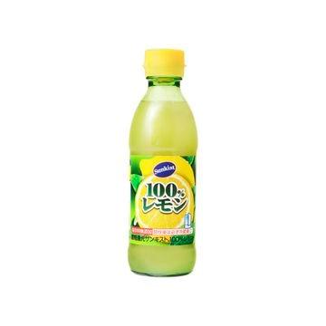 【6個入り】サンキスト 100%レモン 瓶 300ml