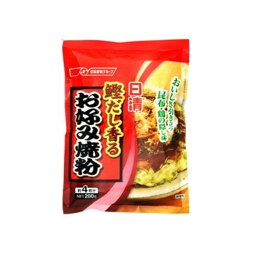 【15個入り】日清フーズ 鰹だし香るお好み焼粉 200g