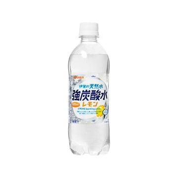【24個入り】サンガリア 伊賀の天然水強炭酸水レモン ペット 500ml