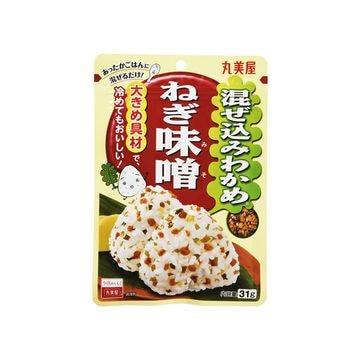 【送料無料】【10個入り】丸美屋 混ぜ込みわかめ ねぎ味噌 袋入 31g