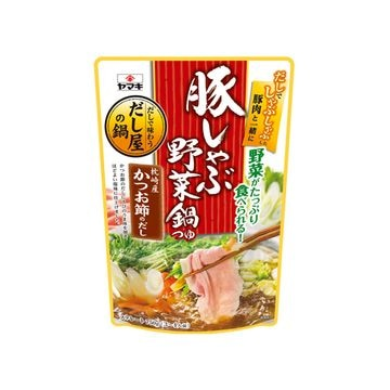 【12個入り】ヤマキ 豚しゃぶ野菜鍋つゆ 750g