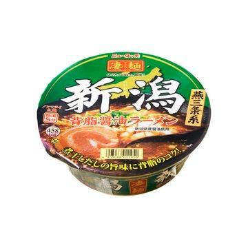 【12個入り】ニュータッチ 凄麺新潟背脂醤油ラーメン カップ 124g