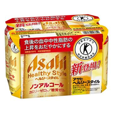 【4個入り】アサヒ ヘルシースタイル 6缶パック 350mlX6